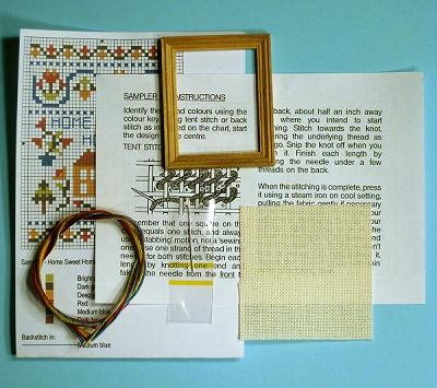 contents of a Dollshouse miniature sampler kit