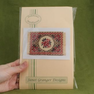 Dollhouse needlepoint carpet rug Barbara green small kit pack