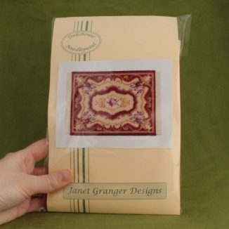 Dollhouse needlepoint carpet rug Sarah kit pack