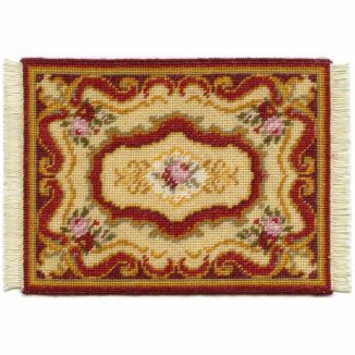 Sarah dollhouse needlepoint carpet