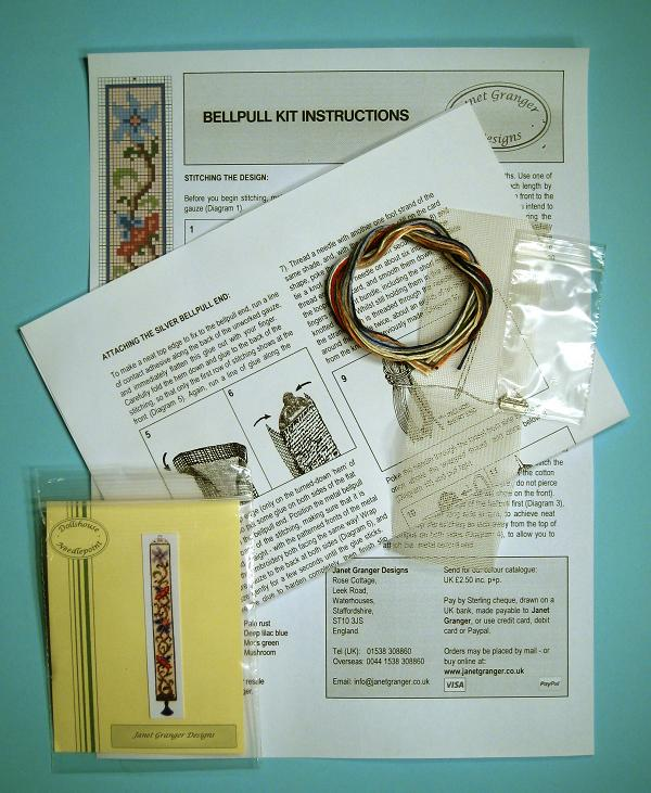 Contents of a bellpull kit