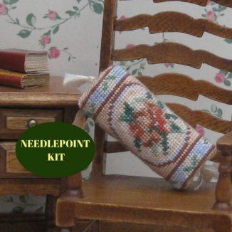 bolster kit dollhouse needlepoint petit point embroidery
