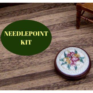 foot stool dollhouse needlepoint embroidery kit
