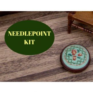 foot stool dollhouse needlepoint embroidery kit