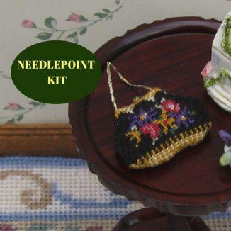 bag purse kit dollhouse needlepoint petit point embroidery