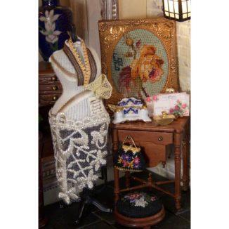 handbag purse kit dollhouse needlepoint petit point embroidery