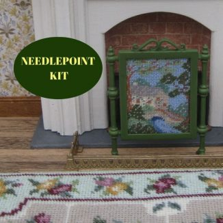 fire screen dollhouse needlepoint embroidery kit