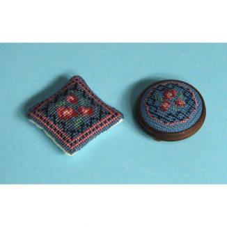 Dollhouse needlepoint Barbara blue collection of kits