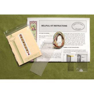 Dollhouse needlepoint bellpull Alice green kit contents
