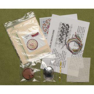 Dollhouse needlepoint round footstool Judith kit contents