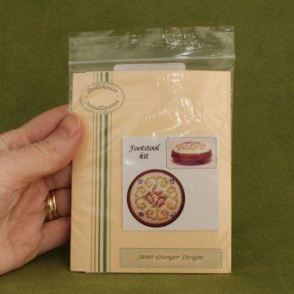 Dollhouse needlepoint round footstool Judith kit pack