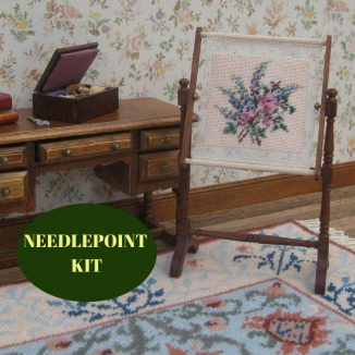 needlework stand kit dollhouse needlepoint embroidery