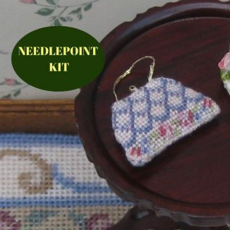 handbag purse kit dollhouse needlepoint petit point embroidery