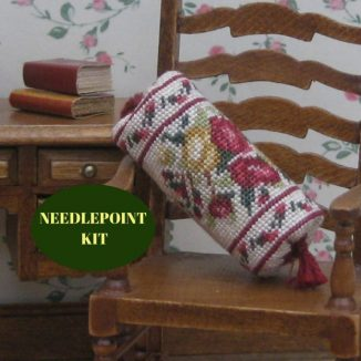 bolster kit dollhouse needlepoint petit point embroidery