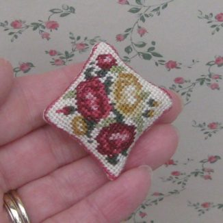 pillow cushion kit dollhouse needlepoint petit point embroidery