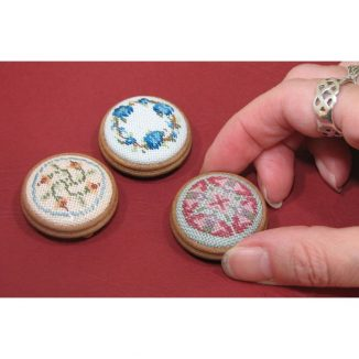 Anthea dollhouse miniature needlepoint accessories petit point embroidery