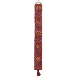 Daisy dollhouse needlepoint bellpull kit