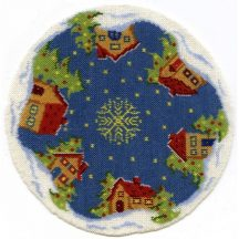 Christmas tree mat - Snowy Village