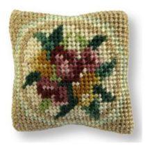 Alice (green) dollhouse needlepoint cushion kit