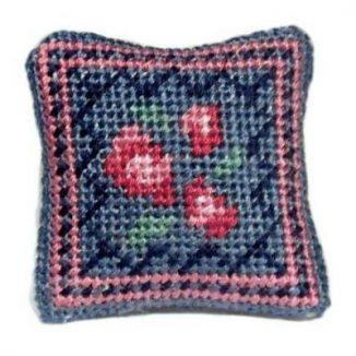 Barbara (blue) dollhouse needlepoint cushion kit