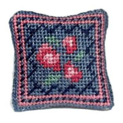 Barbara (blue) dollhouse needlepoint cushion kit