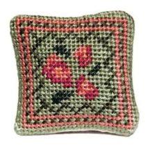 Barbara (green) dollhouse needlepoint cushion kit