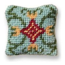 Carole (jade) dollhouse needlepoint cushion kit