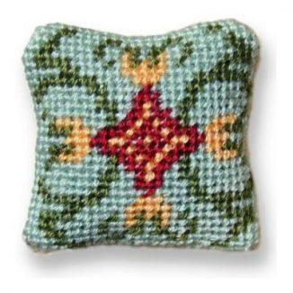 Carole (jade) dollhouse needlepoint cushion kit