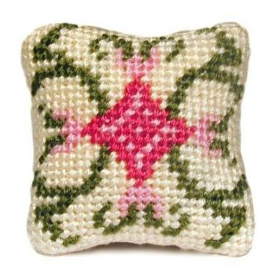 Carole (pastel) dollhouse needlepoint cushion kit