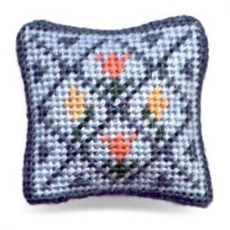 Flora dollhouse needlepoint cushion kit