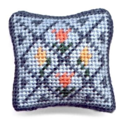 Flora dollhouse needlepoint cushion kit