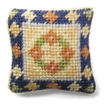 Gwen (cream) dollhouse needlepoint cushion kit