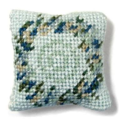 Kate (blue) dollhouse needlepoint cushion kit