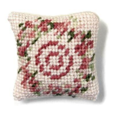 Kate (pink) dollhouse needlepoint cushion kit