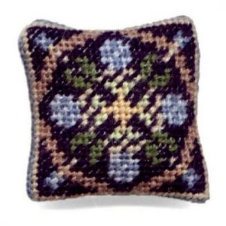 May (blue) dollhouse needlepoint cushion kit