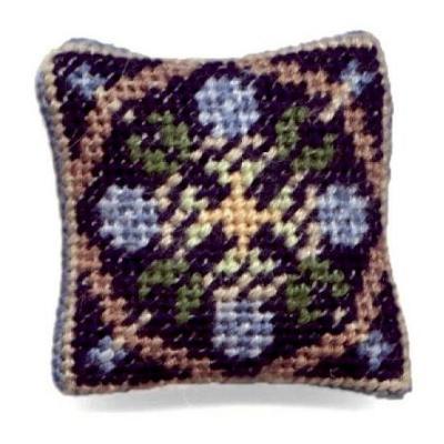 May (blue) dollhouse needlepoint cushion kit