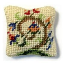 Tree Of Life dollhouse needlepoint cushion kit
