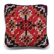 Yvonne (red) dollhouse needlepoint cushion kit