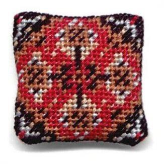 Yvonne (red) dollhouse needlepoint cushion kit
