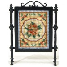 Alice (blue) dollhouse needlepoint firescreen kit
