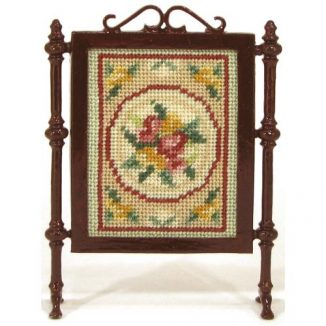 Alice (green) dollhouse needlepoint firescreen kit