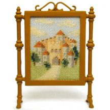 Bavarian Castle dollhouse needlepoint firescreen kit