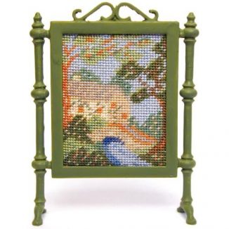 Country Cottage dollhouse needlepoint firescreen kit