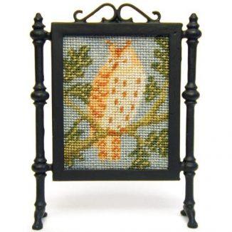 Little Owl dollhouse needlepoint firescreen kit