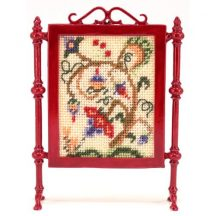Tree of Life dollhouse needlepoint firescreen kit