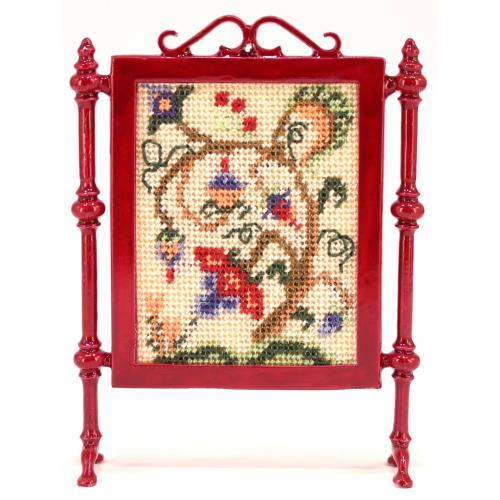 Tree of Life dollhouse needlepoint firescreen kit