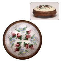 Dollhouse needlepoint footstool kit Bella