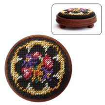 Dollhouse needlepoint footstool kit Berlin Woolwork