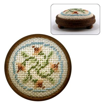 Dollhouse Needlepoint Footstool Kit Eleanor Dollhouse