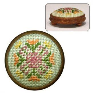 Dollhouse needlepoint footstool kit Elizabeth